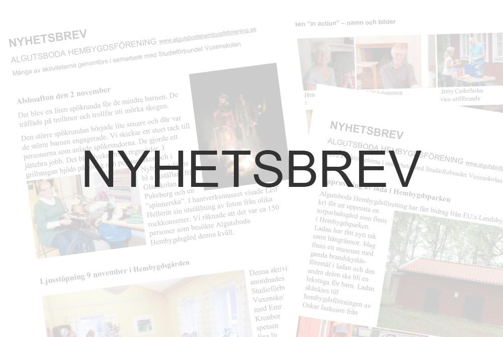 Algutsboda Hembygdsförening, nyhetsbrev